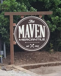 Custom outdoor post and panel sign