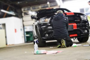 on-site vehicle wrap installation